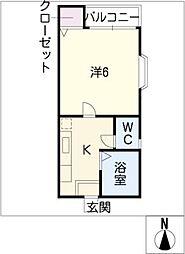シェーネスハイム八剱[2階]の間取り
