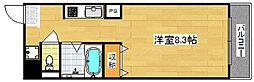 Osaka Metro四つ橋線 玉出駅 徒歩6分の賃貸マンション 3階1Kの間取り