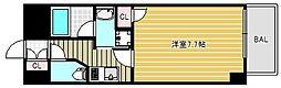 モンテノーム南堀江[5階]の間取り