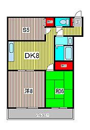 飯塚一丁目ハイツ[3階]の間取り
