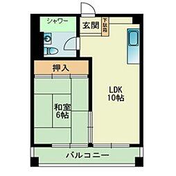福岡県福岡市中央区赤坂1丁目の賃貸マンションの間取り