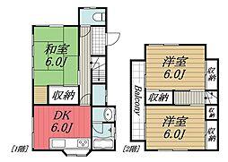 [一戸建] 千葉県富里市中沢 の賃貸【/】の間取り