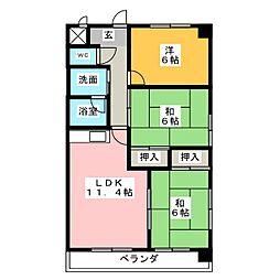 タキマツ第6マンション[3階]の間取り