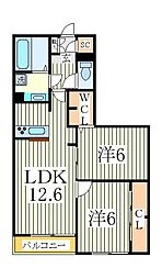 カサミエント[2階]の間取り