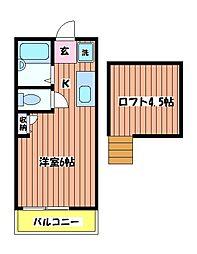 ホワイトハイム L[1階]の間取り