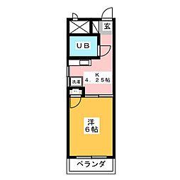 キャッスルシティ城崎I[2階]の間取り