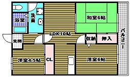 カサボニータ[3階]の間取り