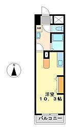 ヴォーヌングケイ(Wohnung K)[7階]の間取り