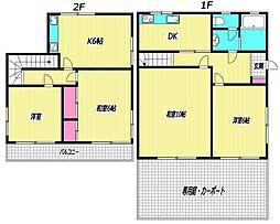 [一戸建] 東京都杉並区清水3丁目 の賃貸【/】の間取り