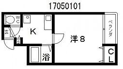 プロスパーあびこ[4階]の間取り