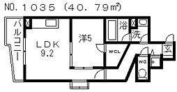 サージュ天王寺[201号室号室]の間取り