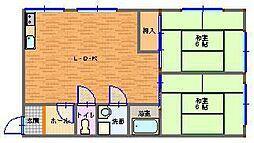 石田アパート[201号室]の間取り