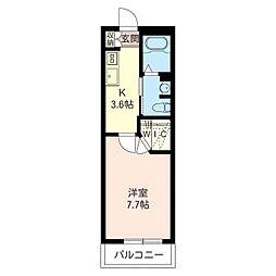 アルテール武蔵小杉[3階]の間取り