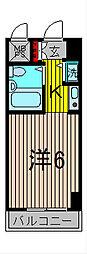 モナークマンション西川口[9階]の間取り