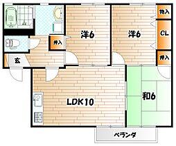 コモンシティ志井II G棟[2階]の間取り