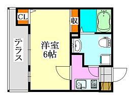 クラッシー津田沼II[102号室]の間取り