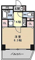 プレサンス京都駅前[501号室号室]の間取り
