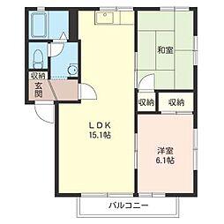 ハウス パインカウンティー A[2階]の間取り