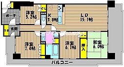 サーパス東古松第2[8階]の間取り