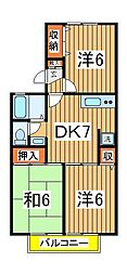 メゾン駒木A[102号室]の間取り