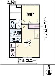 ハミング[2階]の間取り