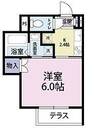 西船橋駅前マンション[1階]の間取り