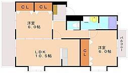 MIMOSA[3階]の間取り