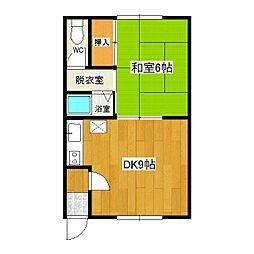 レジデンス6・6[105号室]の間取り