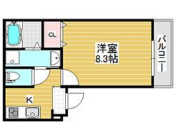 フォーリーブス33 B棟[1階]の間取り