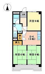 川口ビル A棟[1階]の間取り