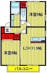 ロイヤルパークスC・D[1階]の間取り