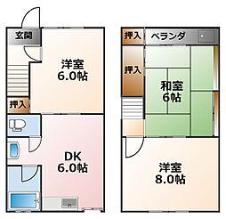 [一戸建] 兵庫県西宮市里中町2丁目 の賃貸【/】の間取り