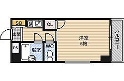 クレイン新大阪[6階]の間取り