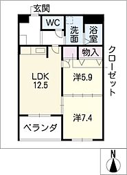 プレステージ[3階]の間取り