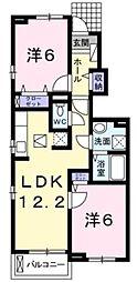 サイプレス2[1階]の間取り