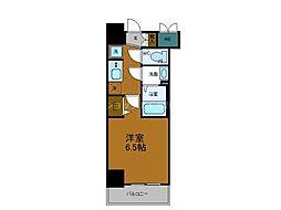 Osaka Metro御堂筋線 天王寺駅 徒歩8分の賃貸マンション 10階1Kの間取り