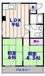 ベストマンション[203号室]の間取り