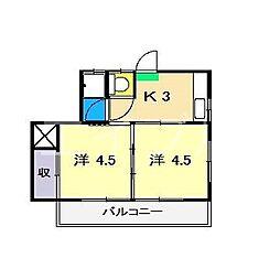 平成ハイツ(鵜来巣)[2階]の間取り
