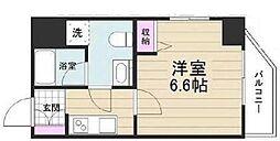 京成押上線 京成立石駅 徒歩10分の賃貸マンション 13階1Kの間取り