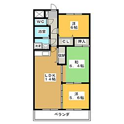 ファミーユ日新[2階]の間取り