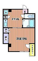 第12新英マンション[3階]の間取り