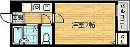 Osaka Metro谷町線 千林大宮駅 徒歩6分の賃貸マンション 1階1Kの間取り