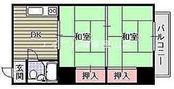 富田町共同ビル[4階]の間取り