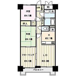 仙台市営南北線 河原町駅 徒歩8分の賃貸マンション 2階3LDKの間取り