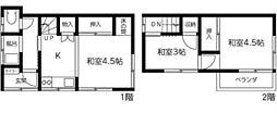 [一戸建] 東京都江戸川区江戸川2丁目 の賃貸【/】の間取り