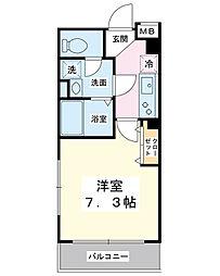 ニューアローズMIII[3階]の間取り