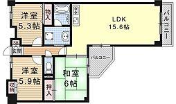 大翔第二ビル[507号室号室]の間取り