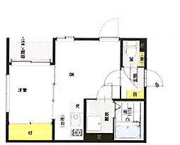 """仮)中台2丁目 A""""Neo"""" DiiLA 3階1DKの間取り"""