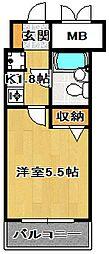 パレ・ドール船橋[6階]の間取り