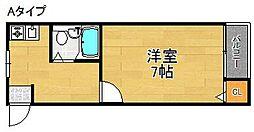 チアフルハウス1年22組[3階]の間取り
